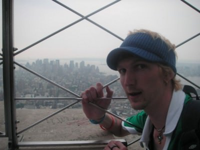 At the top of the Empire State Building (2007 pic!)