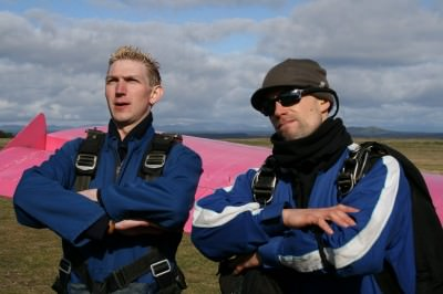 Sky diving in Lake Taupo, New Zealand in 2007