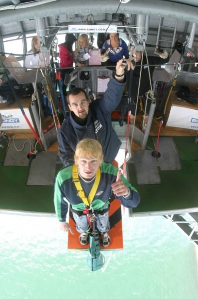 Bungy Jumping off Auckland Harbour bridge in 2007