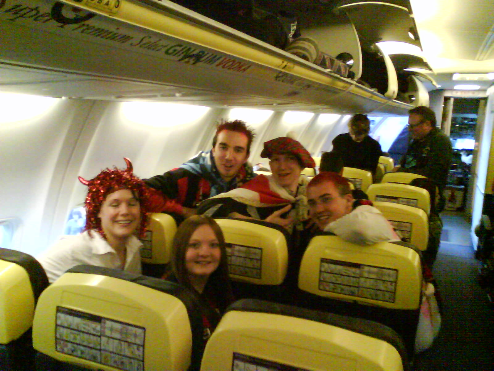 Cherries fans on the Carlisle Party Plane 2008