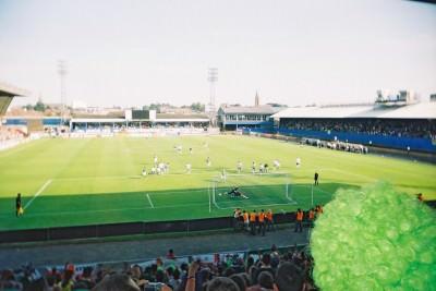 Feeney scores against Azerbaijan in 2005