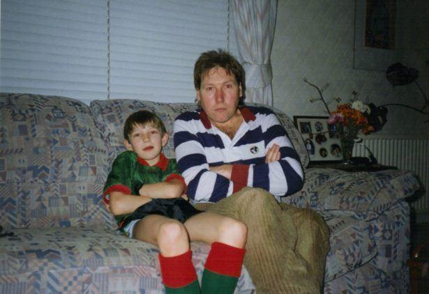 Uncle Jack and I - Glentoran shirt 1990