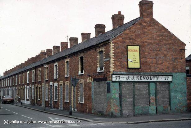 Glentoran Street, East Belfast, Northern Ireland. Where my Dad grew up.