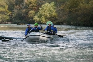 Green and White Water Rafting in Bled Slovenia