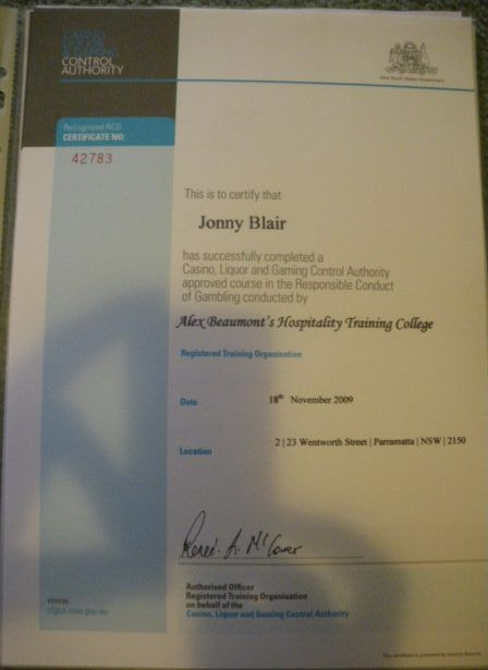 Getting My RSA and RCG: Becoming a student for 2 days in Australia!