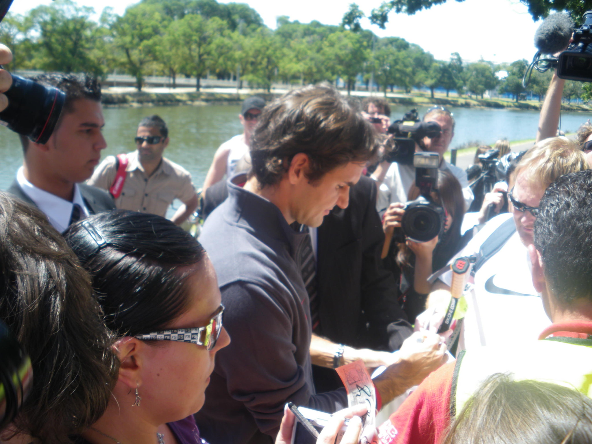 Jonny Blair met Roger Federer in Melbourne in 2010. He lives a lifestyle of travel.