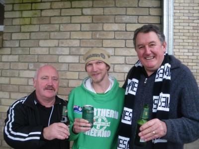 Jonny Blair watching Aussie Rules Football