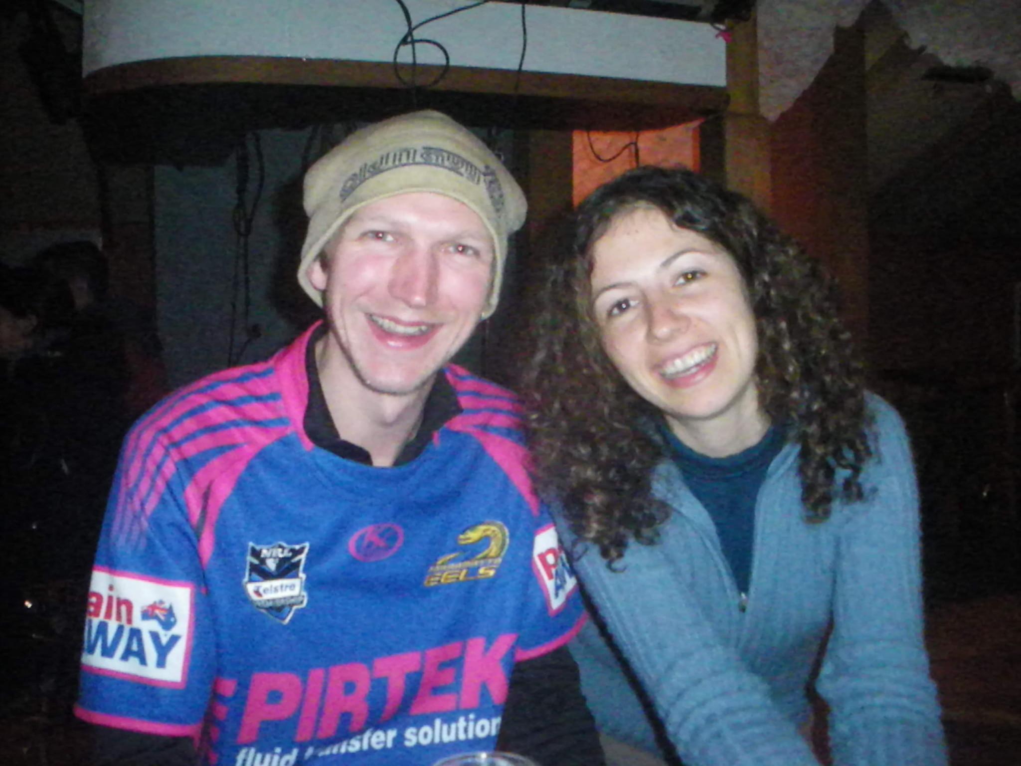 Jonny Blair the travelling Northern Irishman in Franz Josef in New Zealand