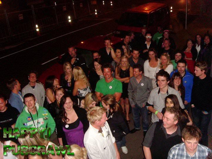 Jonny Blair partying at the Happy J Pub Crawl