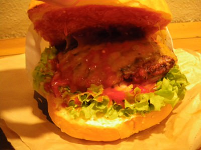 Jonny Blair in New Zealand trying the Fergburger