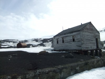 The magical Whaler's Bay in Deception Island, Antarctica
