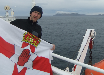 The amazing Cape Horn in behind me on my trip from Antarctica back to Chile and Argentina.
