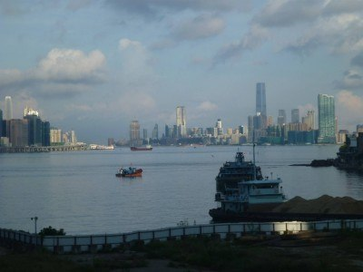 View over Hong Kong harbour from Yau Tong