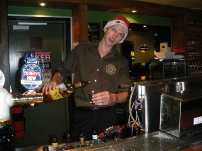 Monday's Money Saving Tips - Christmas Edition - put a Santa hat on and work over Christmas in a bar!