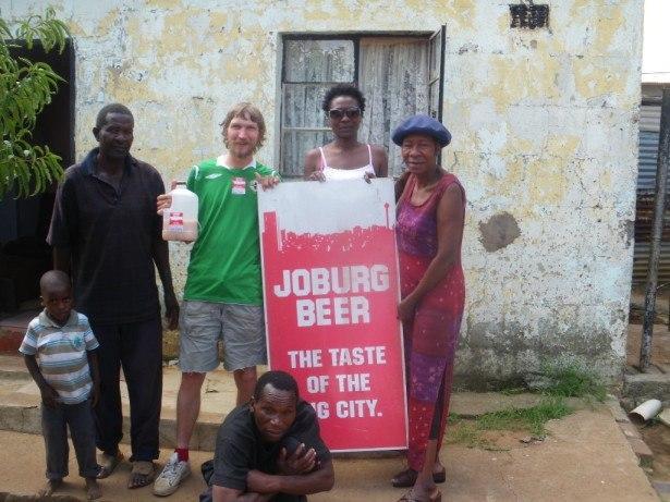 Joburg Beer in Soweto Shebeen