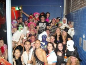 Jonny Blair the travelling Northern Irishman enjoys a party in Sydney - a lifestyle of travel