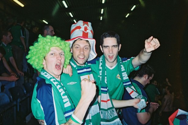 Jonny Blair is a Northern Ireland fan - he was at the Healy 74 match in 2005 but he now lives a lifestyle of travel