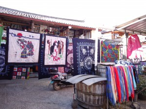 rugs in Shuhe Old Town - a lifestyle of travel