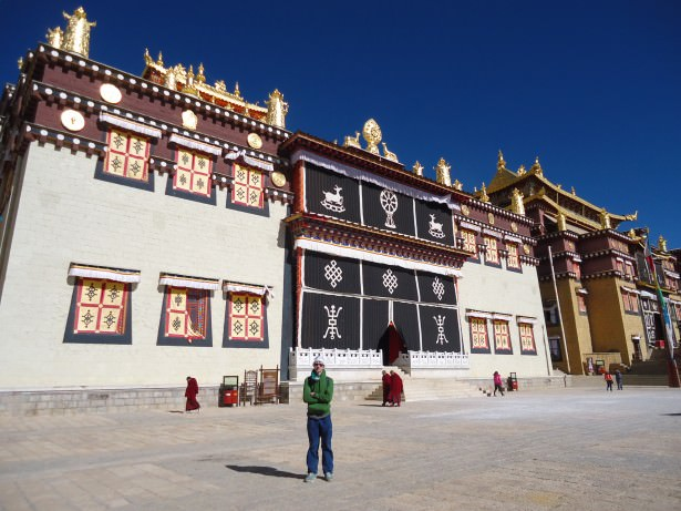 Jonny Blair at a Tibetan Monastery in China
