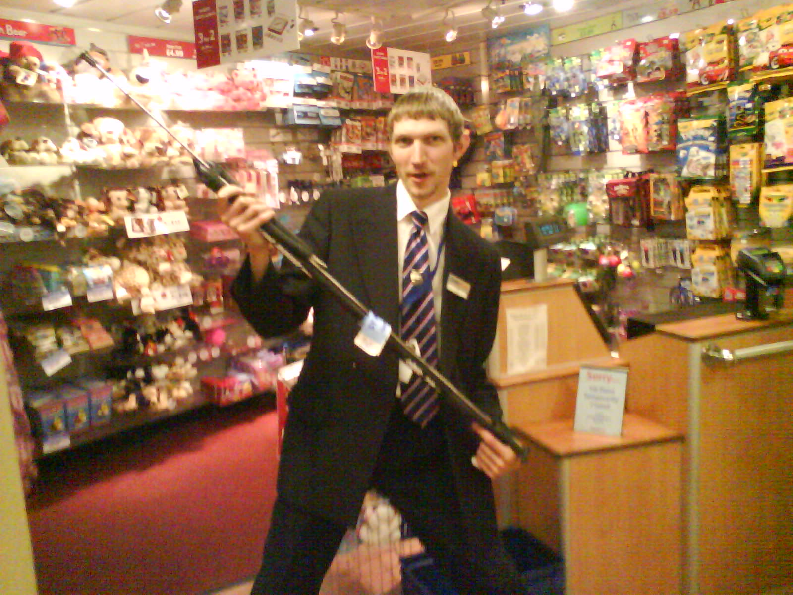 Jonny Blair worked on cross channel ferries and smuggled a spear gun into Guernsey!