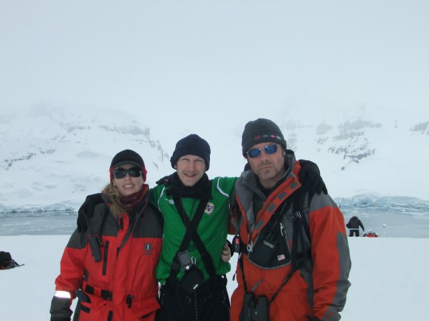 Jonny Blair at the top of Cuverville in Antarctica in 2010 living his travel dreams