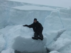 Jonny Blair living the immense travel lifestyle in Antarctica in 2010