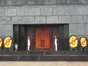 Ho Chi Minh Mausoleum guards in Hanoi - a lifestyle of travel