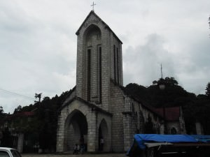 Jonny Blair went to the church in Sapa Vietnam