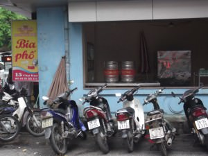 bia hoi corner in Hanoi Vietnam