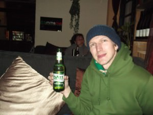 Jonny Blair trying a Dali Beer in Pub street Shuhe Old Town a lifestyle of travel