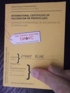 yellow fever certificate - travel essential