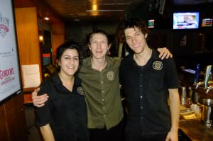 Jonny Blair working in PJ's Irish Pub Paramatta in Australia
