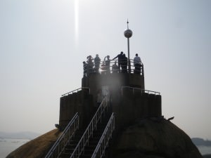 Jonny Blair heads to Sunlight Rock at Gu Lang Yu in Fujian Province