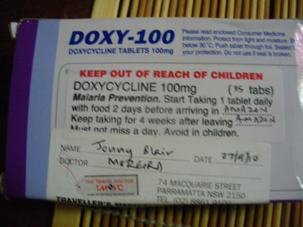Jonny Blair uses doxycycline anti malaria tablets when he lives a life of constant travel