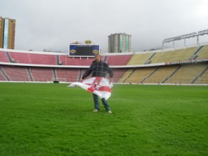 jonny blair keeps up to date with football on his travels by visiting football stadiums
