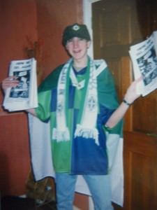 Jonny Blair of Here We Go...Again the Northern Ireland fanzine that ran from 1997 to 2004