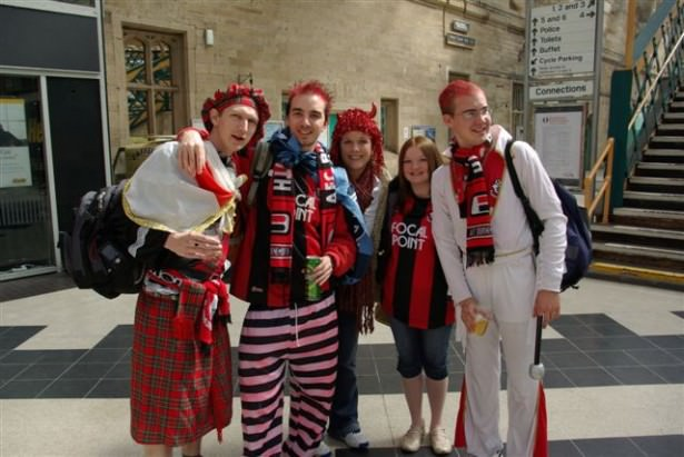 Jonny Blair supports AFC Bournemouth the Cherries he now travels the world