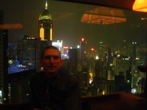 Jonny Blair at the Upper House Hotel in Hong Kong living a lifestyle of travel