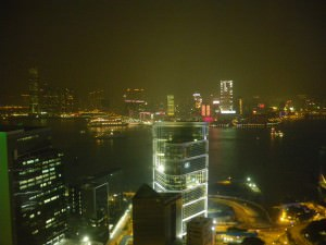 Looking over to Kowloon in Hong Kong from the Upper House Hotel in Admiralty - Thirsty Thursdays on Don't Stop Living