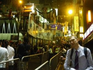 Jonny Blair in Lan Kwai Fong Hong Kong October 2011