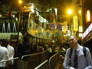 Jonny Blair in Lan Kwai Fong Hong Kong October 2011