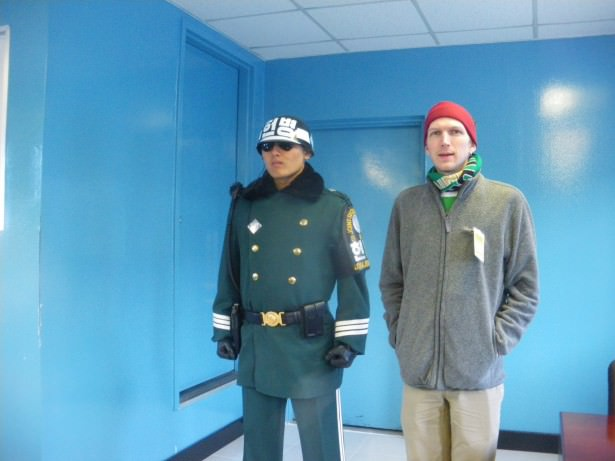 Jonny Blair crossing the border into North Korea in 2011 0 a lifestyle of travel