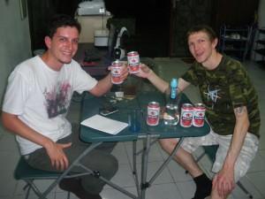 Jonny Blair of Dont Stop Living enjoying a Bintang beer in Jakarta a lifestyle of travel