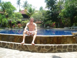 Jonny Blair in Bali Indonesia don't stop living
