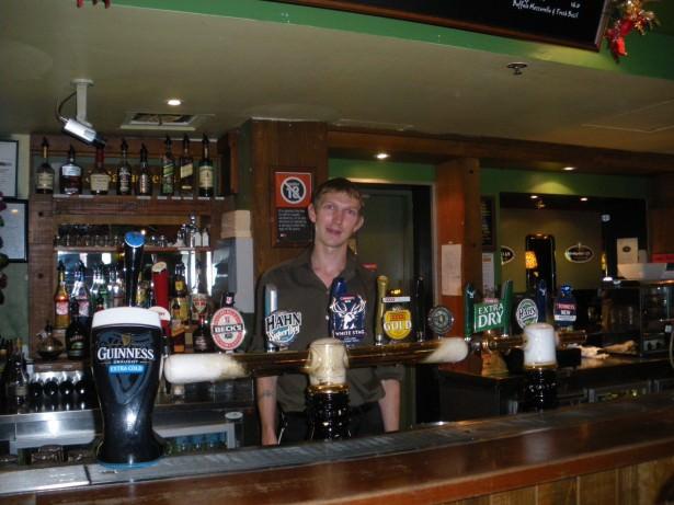 Jonny Blair in PJ Gallagher's Irish Pub Parramatta