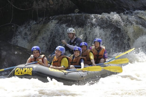 Jonny Blair white water rafting in Brazil - a lifestyle of travel