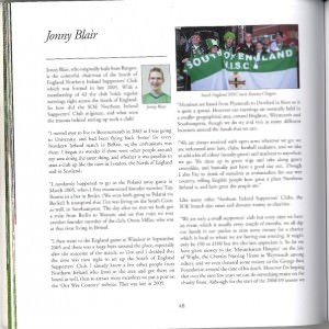 Jonny Blair green and white army book interview