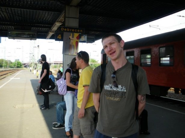Jonny Blair of Don't Stop Living in Debrecen in Hungary