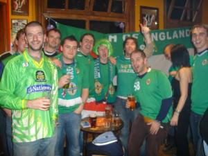 Jonny Blair of SOENISC Northern Ireland fans