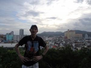Jonny Blair overlooking Macau